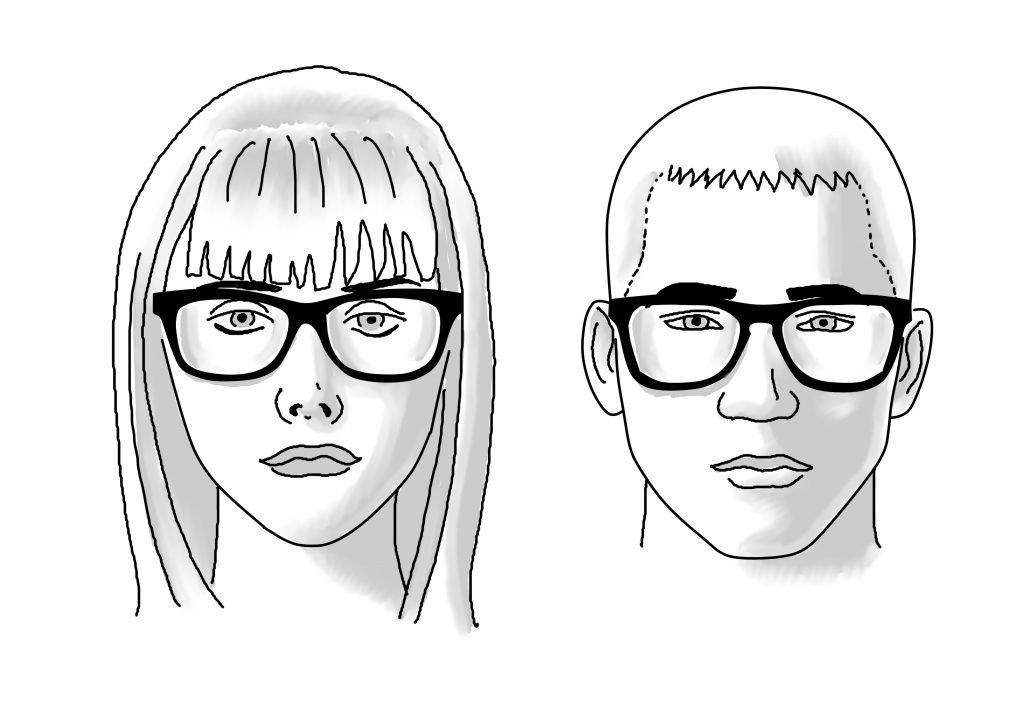 Hexagonal or Oval Shaped face Glasses | James Bensen