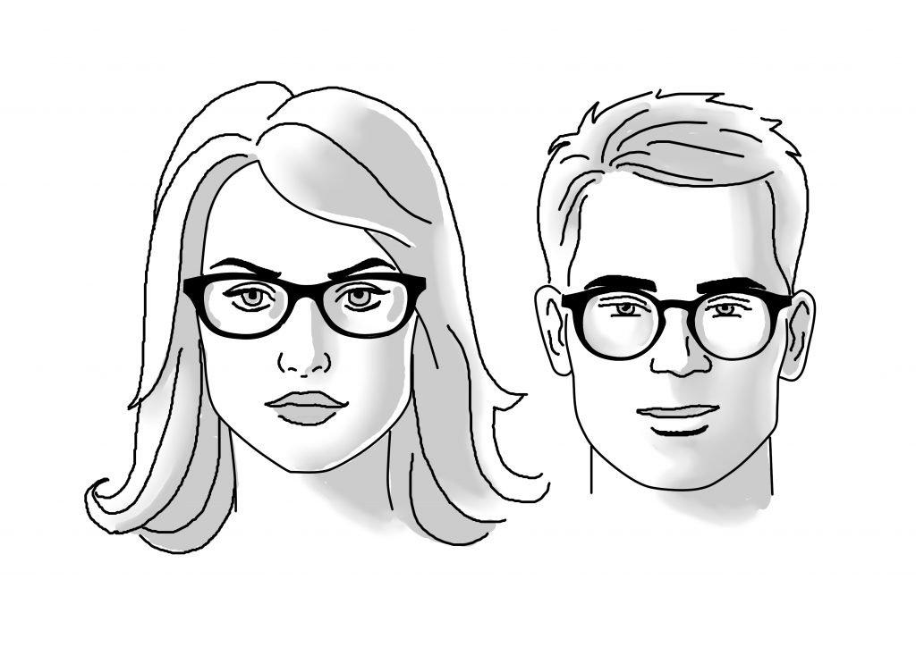 Square Face Glasses | James Bensen