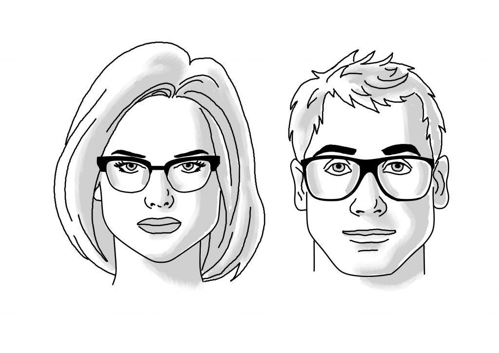 Triangle Face Glasses | James Bensen